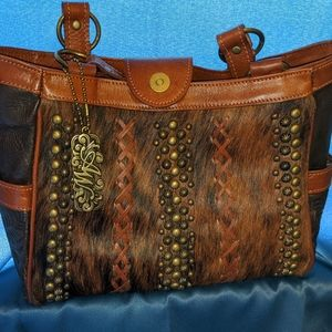 cow hide / leather purse